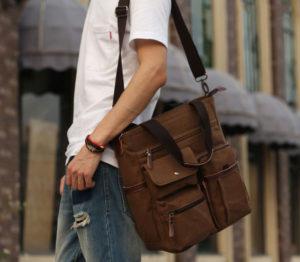กระเป๋าสะพายข้าง ผ้าแคนวาส