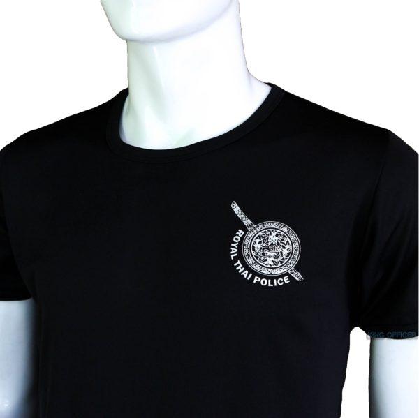 เสื้อยึด คอกลม ตำรวจ