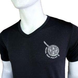 เสื้อยึด คอวี ตำรวจ