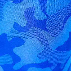 เสื้อยึด คอกลม ลายพราง สีน้ำเงิน