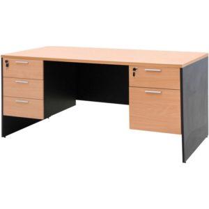 โต๊ะทำงาน สีบีช-เทาดำ เฟอร์ราเดค ST165DB+SDA