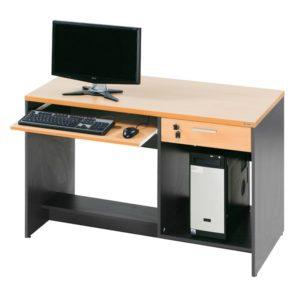 โต๊ะคอมพิวเตอร์ สีบีช-เทาดำ เฟอร์ราเดค COM120BOX