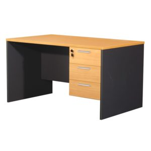 โต๊ะทำงาน สีบีช+เทาดำ เฟอร์ราเดค ST135DB