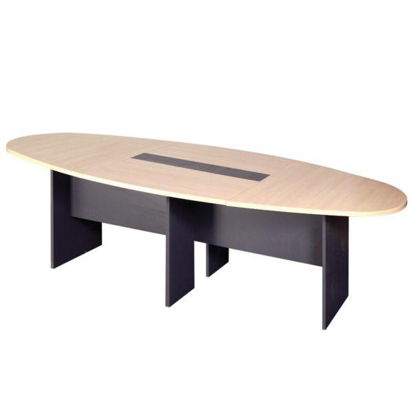 โต๊ะประชุม สีบีช-เทาดำ เฟอร์ราเดค ETC240