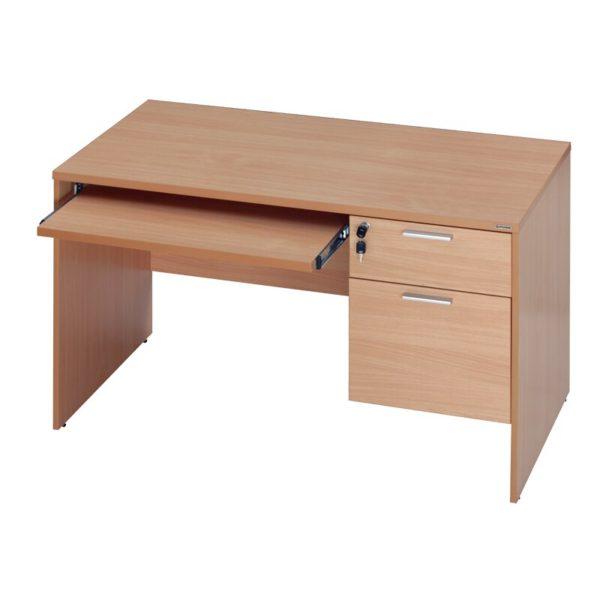 โต๊ะทำงาน สีบีช เฟอร์ราเดค ST120DA+KB70