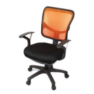 เก้าอี้สำนักงานผ้าตาข่าย สีส้ม กรีนไลน์ GLT08 A5007