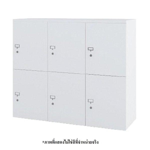 ตู้ล็อคเกอร์ 6 ช่อง สีเทา เฟอร์ราเดค LK4610