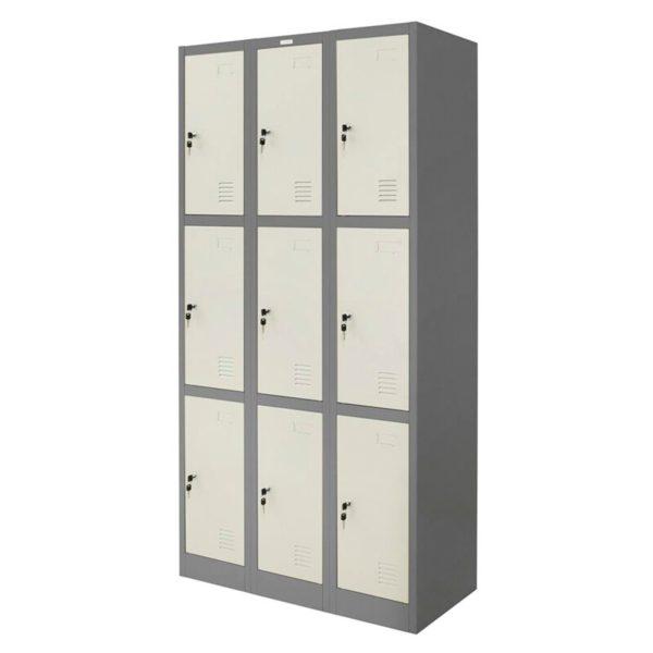 ตู้ล็อคเกอร์ 9 ช่อง สีเทาสลับ Zingular ZLK-6109