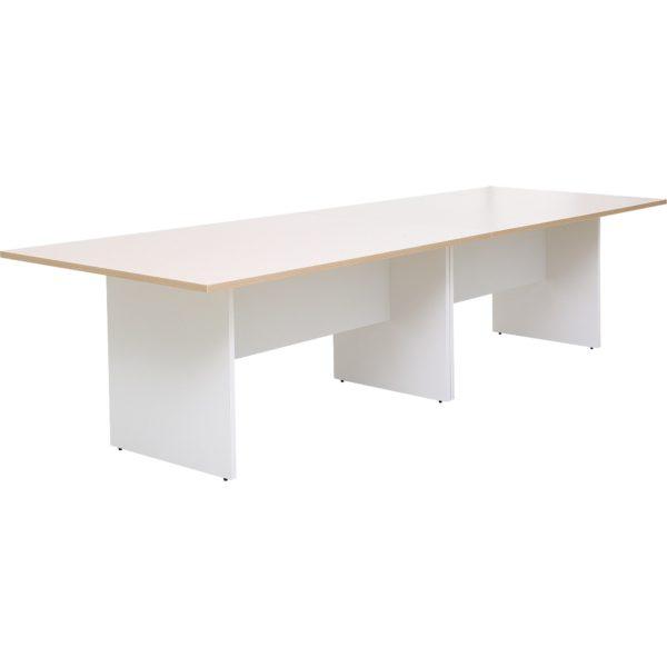 โต๊ะประชุม 8-10 ที่นั่ง สีโอ๊คอ่อน-ขาว ขาไม้ เฟอร์ราเดค MMT3200