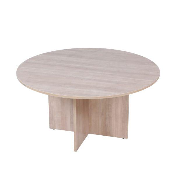 โต๊ะประชุมกลม 6 ที่นั่ง สีโอ๊คอ่อน เฟอร์ราเดค RST160