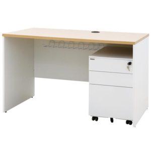 โต๊ะทำงาน สีโอ๊คอ่อน-ขาว เฟอร์ราเดค ST1260PDM