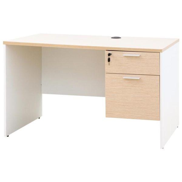 โต๊ะทำงาน สีโอ๊คอ่อน-ขาว เฟอร์ราเดค ST1260DA