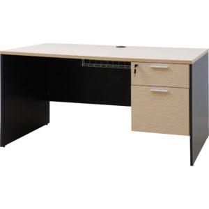 โต๊ะทำงาน สีโอ๊คอ่อน-เทาดำ เฟอร์ราเดค ST1475DA
