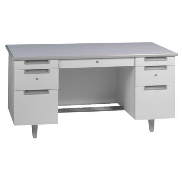 โต๊ะทำงานเหล็ก 5 ฟุต สีเทา เฟอร์ราเดค MT-3060