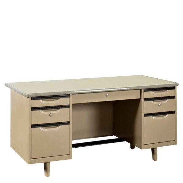 โต๊ะทำงานเหล็ก 5 ฟุต สีครีม เฟอร์ราเดค MT-3060