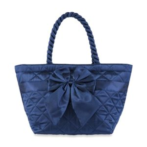 NaRaYa กระเป๋าถือ Satin Quilted Trapeze with Bow