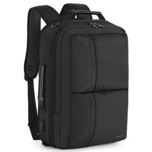 Tigernu กระเป๋าแล็ปท็อปแบบ 3 in 1 ไนล่อน USB ความจุสูงกระเป๋าเป้สะพายหลังเดินทาง (15.6 ')