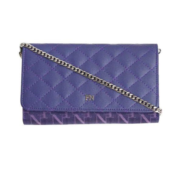 Flynow Bag กระเป๋าสะพายสายโซ่ Cross body bag 1208-24012-010 Col.Ultra violet