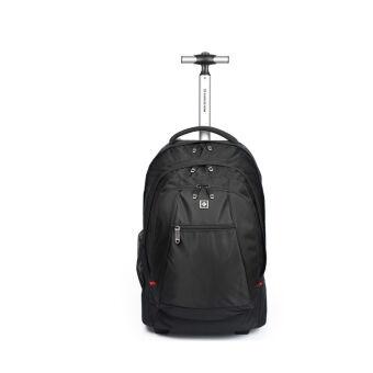 กระเป๋าเป้ล้อเลื่อน กระเป๋าเดินทาง สีดำ
