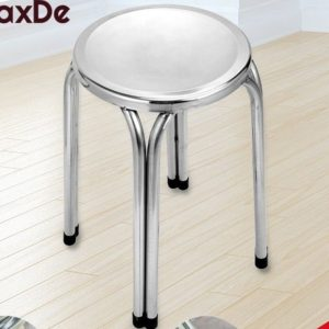 MaxDe เก้าอี้สแตนเลส สูง 60 CM