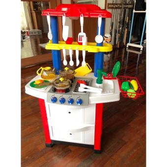 ชุดเครื่องครัวจำลอง 33 ชิ้น ขนาดใหญ่ ของเล่นเด็ก