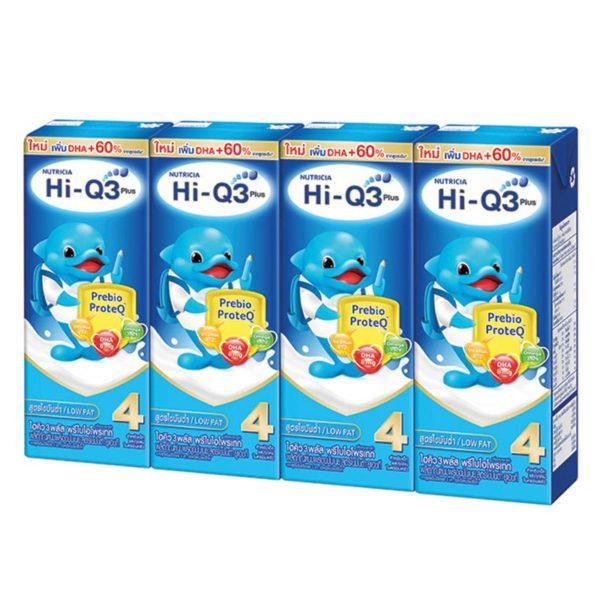 ผลิตภัณฑ์นมพร่อมมันเนย ยูเอชที สูตรไขมันต่ำ สูตร 4 180 มล. แพ็ค 4