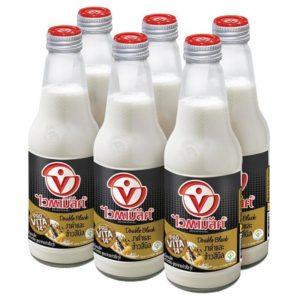 ไวตามิลค์ ทูโกอินแบลค นมถั่วเหลือง สูตรธัญพืช 300 มล. แพ็ค 6