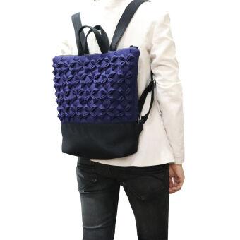 กระเป๋าเป้ผู้หญิงสะพายหลัง จากผ้าฝ้ายทอมือ