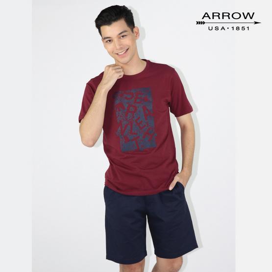 ARROW T SHIRT KT5J8MR เลือดหมู
