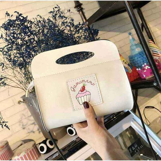 Fancybag กระเป๋าสะพายข้าง CUP CAKE Cutie - White