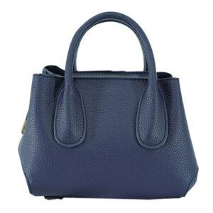 FQ&L กระเป๋าหนัง PU มีสายยาวสะพายข้าง 2 สาย สีน้ำเงิน