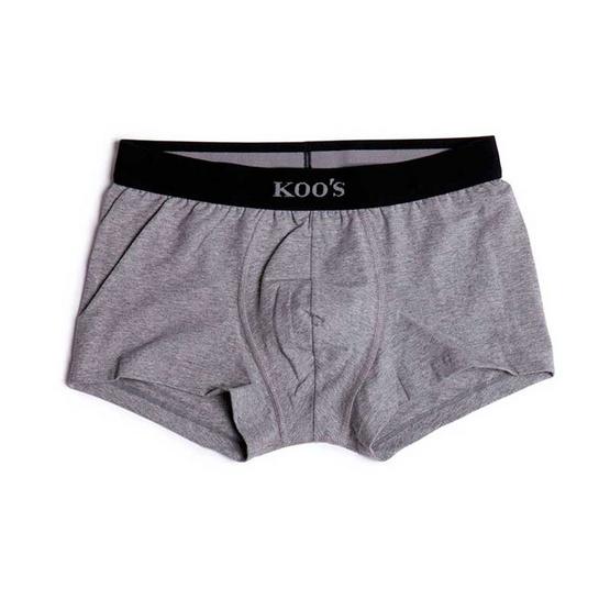 KOO'S กางเกงในรุ่นซิเนเจอร์ขาสั้นยางท็อปดายดำ