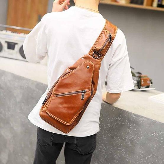 OSAKA รุ่น NE837 กระเป๋าสะพายไหล่ คาดอก ผู้ชาย หนัง-ne837-leather-men-shoulder-bag